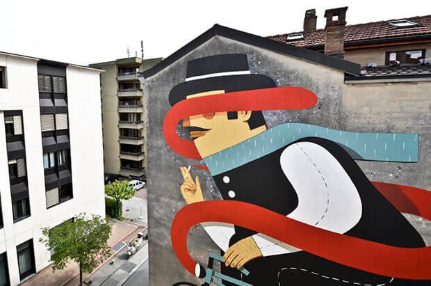 murales a lugano - svizzera