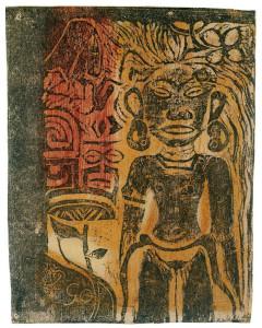 La Dea Hina, 1894-95. Xilografia con ritocco manuale, cm. 15.1 x 11.7