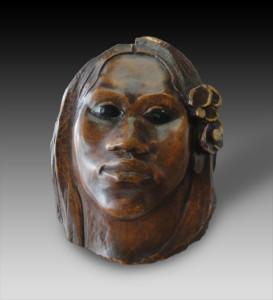 Tehura-Scultura-1891-1893.-Il-fiore-di-legno-policromato-H.-222-centimetri.