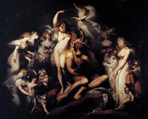 Heirinch Fussli, Titania e Bottom, 1790, olio su tela, cm. 217,2 x 275,6