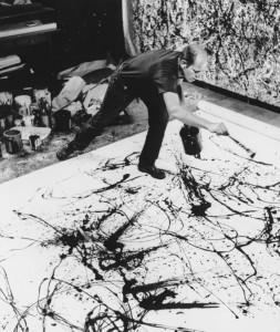Jackson Pollock ritratto da Wilfred Zogbaum nello studio di Fireplace road, 1947-Katarte