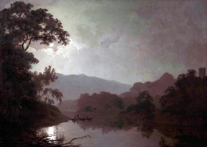 Joseph Wright of Derby. Snowdown moonlight, olio su tela, cm. 88 x 123