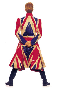 David Bowie - Earthling album cover, 1997 - Union jack coat designed by Alexander Mcqueen and David Bowie