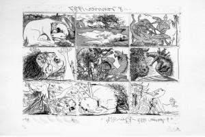 Sogno e menzogna di Franco, I, acqueforti e acquatinte, 1937