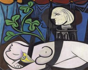 Pablo Picasso. Nudo, foglie verdi e busto, 1932
