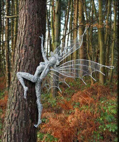 the dance of the fairies the ethereal steel sculptures of robin