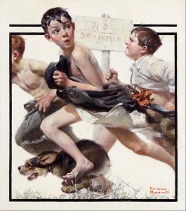 No swimming, 1921