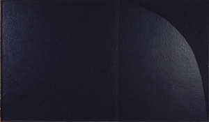 Alberto Burri. Grande nero cellotex M2, 1975, cellotex e acrilico su tela