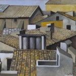 Renato Guttuso. RRooftops in Rome, c. 1973 Oil on canvas, 70 x 85 cm. Courtesy Art Gallery Maggiore, Bologna