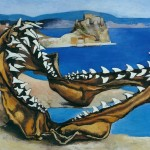 Renato Guttuso. Shark's Jawbones in a Landscape, 1974. Oil on canvas, 63 x 73 cm. Courtesy Art Gallery Maggiore, Bologna
