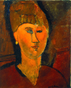 Amedeo Modigliani. Woman with red hair, 1915