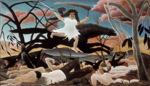 Henri Rousseau. War Or Cavalcade Of Discord, 1894. Oil on canvas. cm. 1145 x 195. Paris, Musée d'Orsay, © RMN-Grand Palais (Musée d'Orsay)Tony Querrec