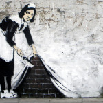 Banksy - Maid Chalk Farm, London