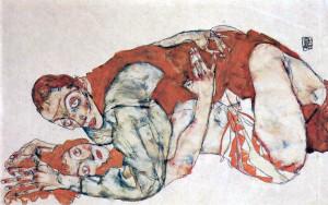 Egon Schiele. Act of love, study