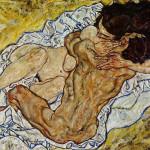 Egon Schiele. The embrace, 1917