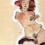 Egon Schiele. Female nude, 1910-11