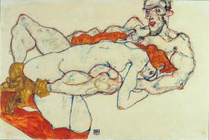 Egon Schiele. Lovers, 1913