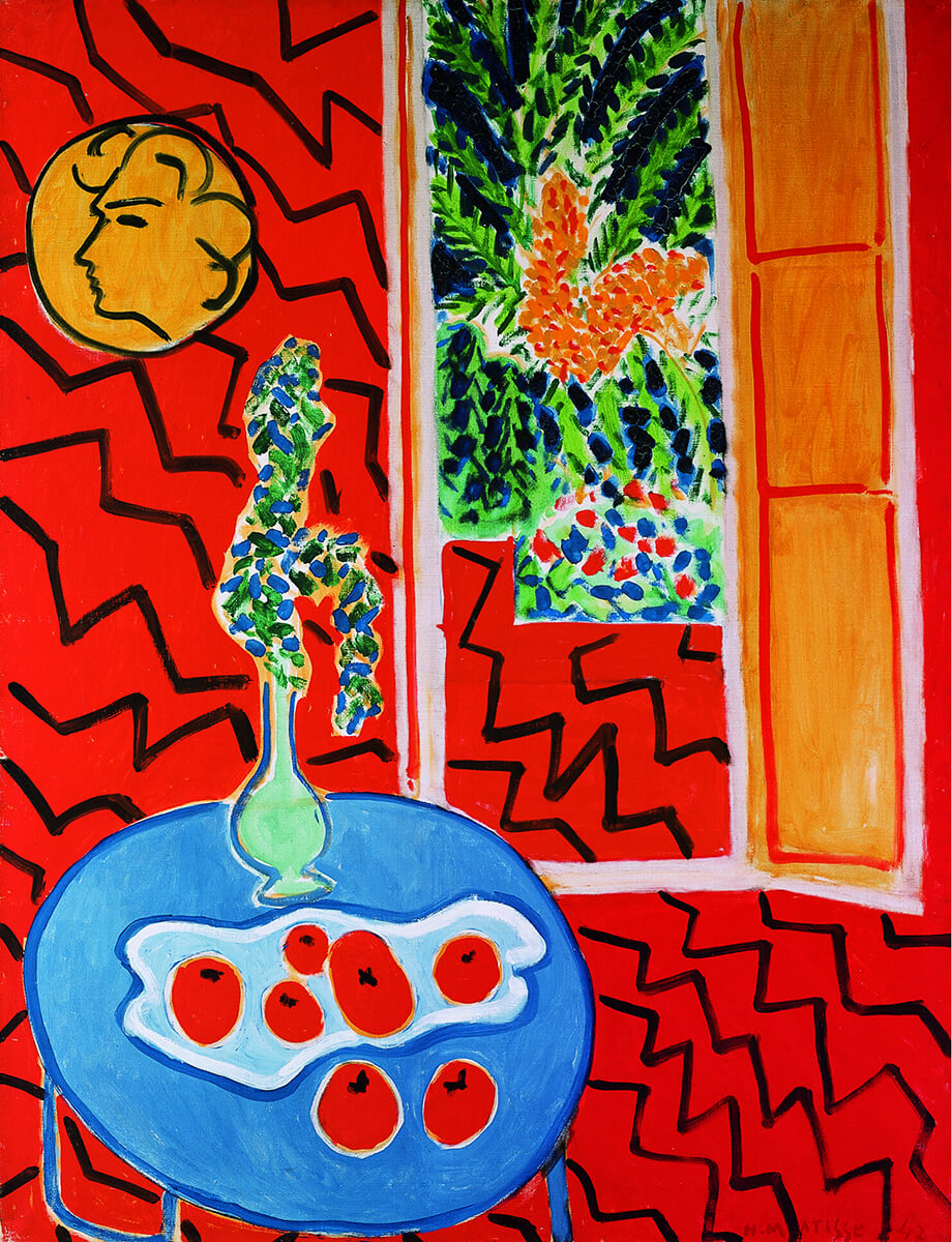 The Colorful Petals Flying Into The Oasis Of Matisse