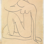 Henri Matisse, Study for Blue Nude, c. 1952. Pencil on paper, cm. 27 x 21. Private collection. © Succession H. Matisse, c/o Pictoright Amsterdam, 2014