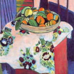 Henri Matisse, basket with oranges, 1913. Oil on canvas, cm. 94 x 83. Picasso donation. National Museum of Picasso, Parigs