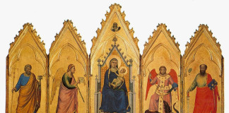 Giotto. Polyptych of Bologna, 1332 - 1334 ca. Tempera and gold on wood, from the Rocca di Galliera. National Picture Gallery, Bologna