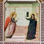 Giotto. Polyptych of Santa Reparata. Annunciazione, detail from towards. From the Cathedral of Santa Maria del Fiore. Florence