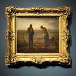 Jean-François Millet. The Angelus 1857-1859. Orsay Museum, Paris, bound of Alfred Chauchard, 1910. Photo: © Katarte.net