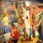 Renato Guttuso. Crucifixion, 1940-1941. Oil on canvas, cm. 198,5 x 198,5. GNAM - National Gallery of Modern and Contemporary Art, Rome. © Renato Guttuso, by SIAE 2015. Photo: © Katarte.net