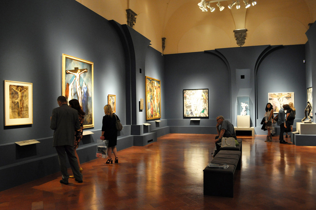 View of the third section of the exhibtion at Palazzo Strozzi. Copyright Katarte.net