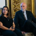 Alberto Burri. Francesca Lavazza. Corporate Image Director of Lavazza with the Director of the Guggenheim Richard Armstrong