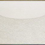 Alberto Burri. Large White, 1974. Acrylic and PVA on Cellotex, cm. 126 x 211. Palazzo Albizzini Foundation, Burri Collection, Città di Castello, Italy