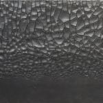 Alberto Burri. Large Black Crack, 1977. Acrylic and PVA on Cellotex, cm. 149.5 x 249.5. Centre Pompidou, Paris, Musée national d'art moderne. Gift of the artist, 1978 ©Palazzo Albizzini Foundation , Burri Collection, Città di Castello, Italy /2015 Artists Rights Society (ARS), New York/SIAE, Rome Photo: © CNAC/MNAM/Dist. RMN-Grand Palais/Art Resource, New York