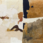 Alberto Burri. Mold T, 1952. Oil, PVA, pumice, sand, and shellac on canvas, cm. 90.2 x 110.5. Godwin-Ternbach Museum, Queens College, City University of New York (CUNY), Gift of G. David Thompson, 1958
