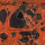 Alberto Burri. Red Plastic M 2, 1962. Burned plastic on canvas, cm. 120 x 180. Private collection © 2014 Artists Rights Society (ARS), New York / SIAE, Rome