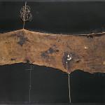 Alberto Burri. Sack SF 1 ca. 1954. Burlap, thread, acrylic, and PVA on canvas, 86 x 100.6 cm. Private collection, Ezio Gribaudo, Turin