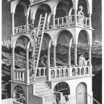 Escher. Belvedere, 1958. Lithography