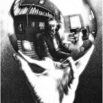 Hand with Reflecting Sphere, 1935. Lithography