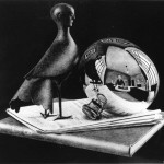Escher. Still Life with spherical mirror, 1934. Lithography