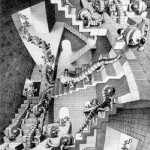 Hescher. House of Stairs, 1951. Lithography