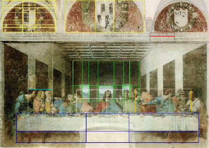 Leonardo da Vinci - last supper - golden ratio