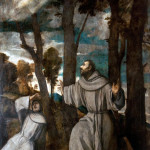 Tiziano Vecellio - St. Francis receives the Stigmata, 1525