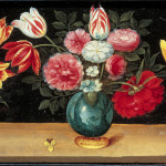 Ambrosius Brueghel. Still Life with Flowers, 1660 - 1665. Oil on canvas, cm. 12.5 x 26.5 (each). Private collection, Vermont