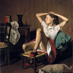 Balthus. Thérèse Dreaming,1938. Oil on canvas, cm. 149,9 X 129,5. The Metropolitan Museum of Art, Jacques and Natasha Gelman Collection, 1998. © Balthus