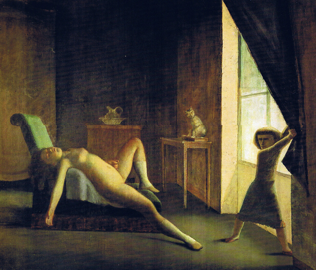 Balthus. The room, 1952 (detail) - 1954. Oil on canvas, cm. 270.5 X 335. Private collection © Balthus © Mondadori Portfolio / Bridgeman Images