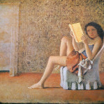 Balthus. Katia reading, 1974. Oil on canvas, cm. 180 x 210. Private Collection