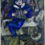 Marc Chagall. Accordion, ca. 1912-14. Gouache, watercolor, and crayon on paper, cm. 66,5 x 52,2. Bequest of Simon and Tekla Bond, New York, all'American Friends of The Israel Museum © Chagall ® by SIAE 2015