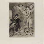 Marc Chagall. Apparition. Etching and aquatint, 1924/25, cm. 58,4 x 45,3. Credits: Legacy Paul Barchan © Chagall ® by SIAE 2015