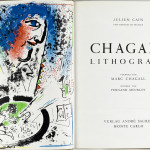 Marc chagall. Chagall Lithograph, by Julien Cain with 12 color lithographs, 1960, cm. 32,5 x 51. Publishing House André Sauret, Monte Carlo. The Vera and Henry Mottek Collection, a gift to the State of Israel