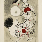 Marc Chagall. Pair of Lovers with Cock. Color lithograph, 1951, cm. 748 x 530. Gift of Ida Chagall, Paris, © Chagall ® by SIAE 2015