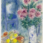 Marc Chagall. Still Life with Fruit and Flowers, 1956-1957. Gouache, watercolor and wax crayons on paper, cm. 70,5 x 54,5. Gift of Victor and Anne-Marie Loeb, Bern, Switzerland